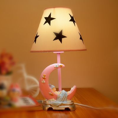 Cartoon Moon Star Baby Room Table Lamp Cute Cartoon Boy Girl Desk Lamps  Kidu0027s Bedroom Table