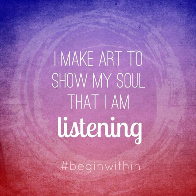I make #art to show my soul that I am listening!   BeginWithinJewelry on Instagram