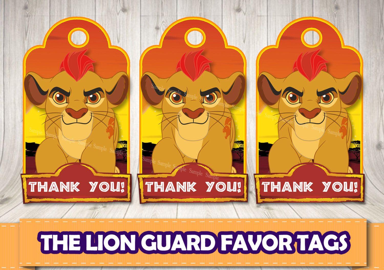 The Lion Guard favor tags.Lion Guard printable labels. Lion Guard ...
