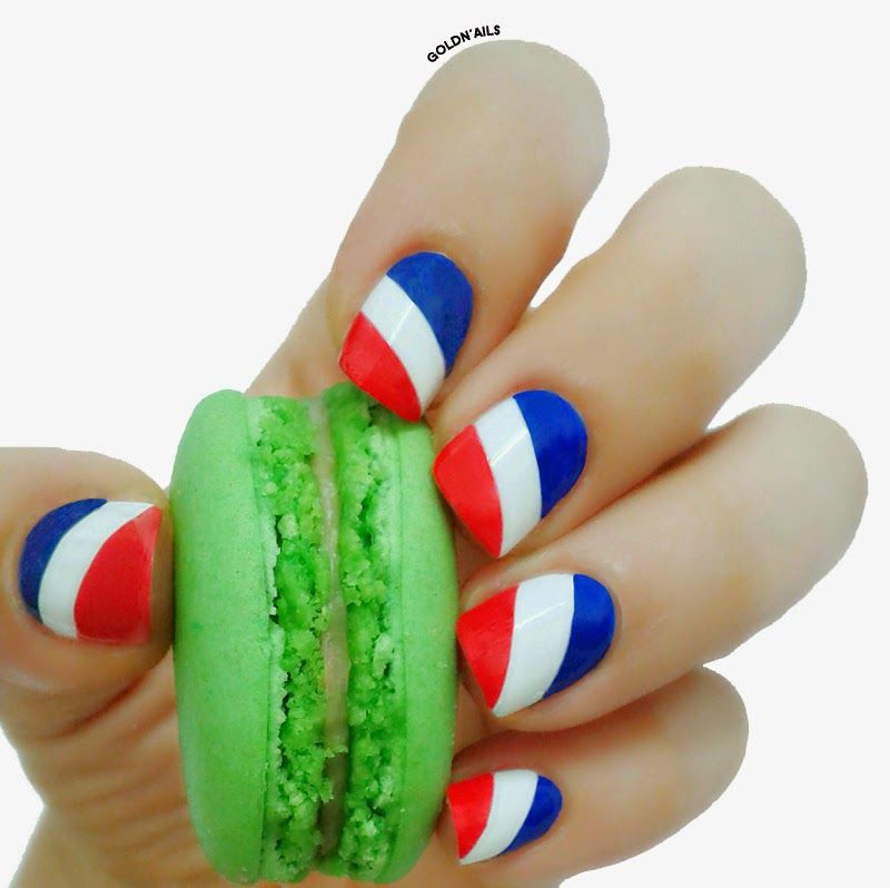 France Flag Nails - Bastille Day Nail Art France Nail ART ...
