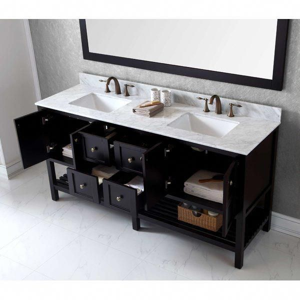 Bob 71 Double Bathroom Vanity Set With Mirror Bathroomvanity