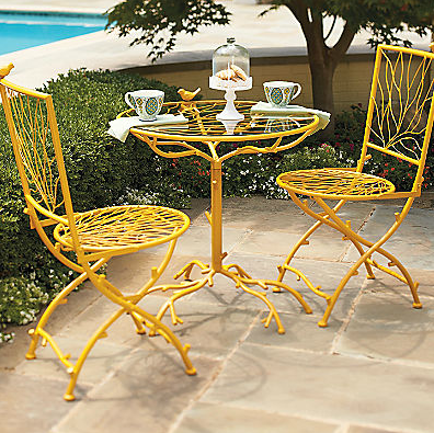 Small Space Outdoors Bistro Sets For The Home Pinterest - Small outdoor cafe table and chairs