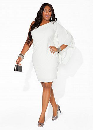 Ashley Stewart Pluz size fashion. Get inexpensive trendy great quality clothing items today! SPRING & SUMMER FASHION TRENDS 2017 - White party dress. wedding dress #2. (affiliate link)