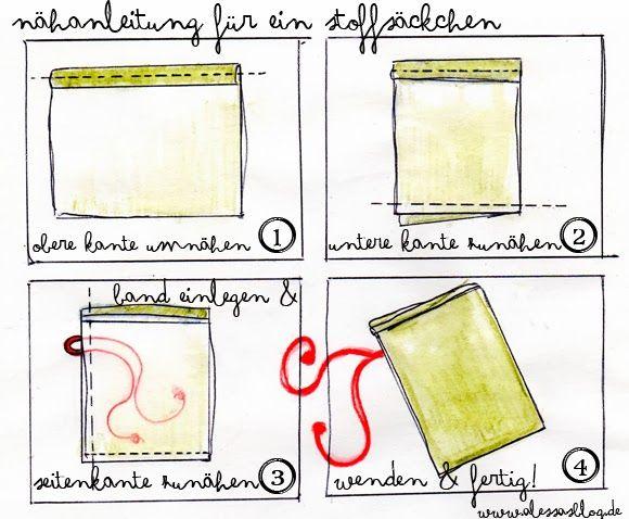 Alessas Blog: [freebie + Nähanleitung] Adventskalender selber machen mit Stoffsäckchen #calendrierdel#39;aventdiy