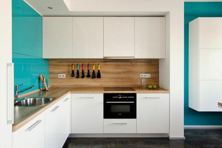 pared-cocina-moderna-madera-color-verde-claro.jpg (760×506) | casa ...