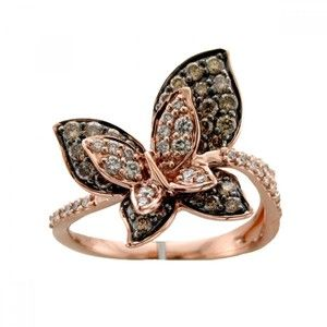 Le Vian Butterfly Ring with 087 Carats Chocolate Diamonds s