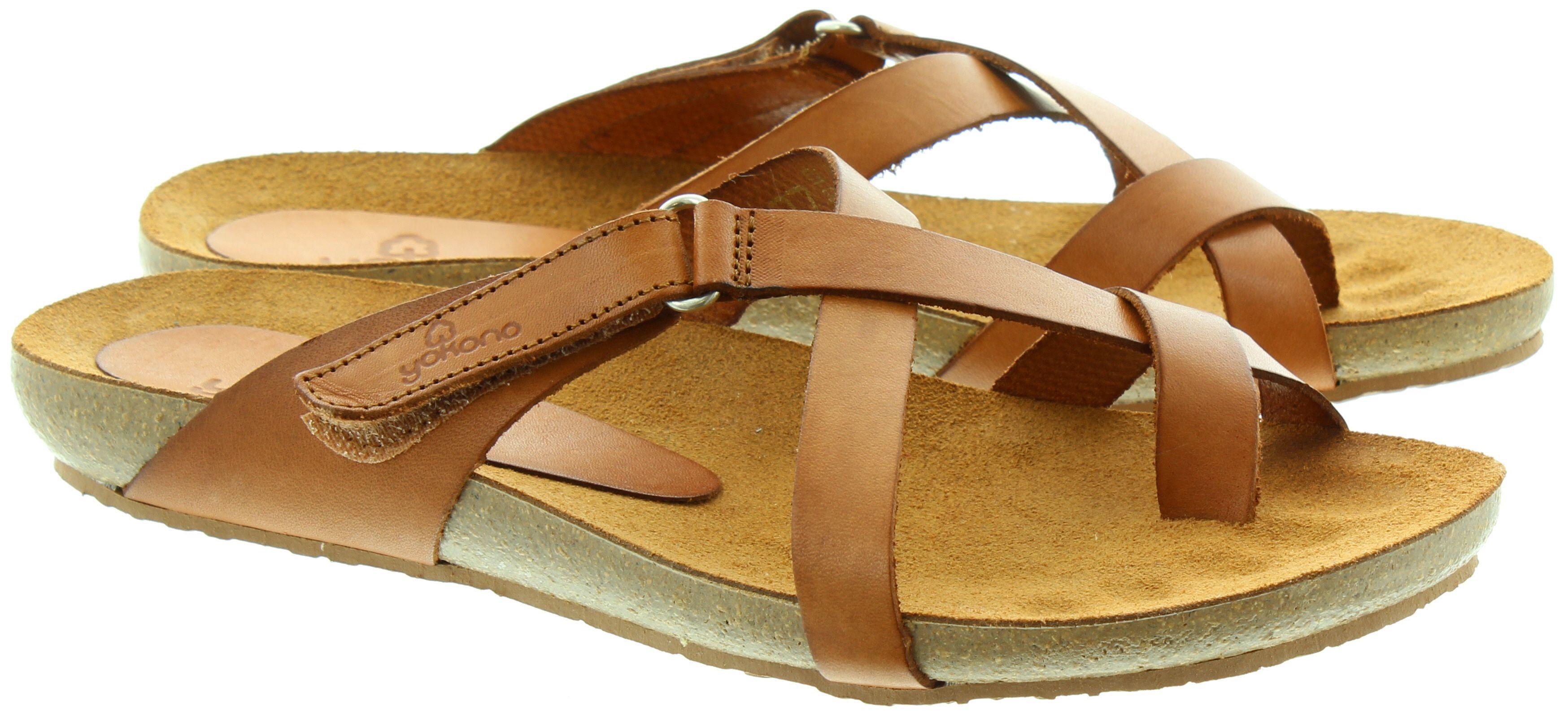 32da8d5ef Shop the Yokono 581 Toe Loop Sandals in Tan in Tan at Jake Shoes. Get