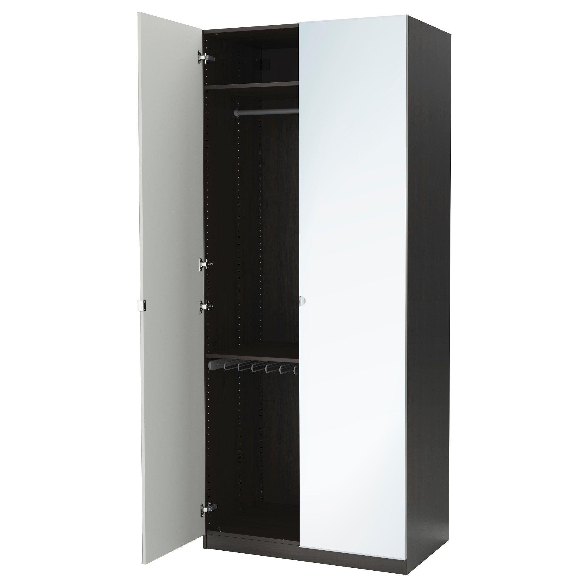 IKEA PAX Wardrobe blackbrown, Vikedal mirror glass