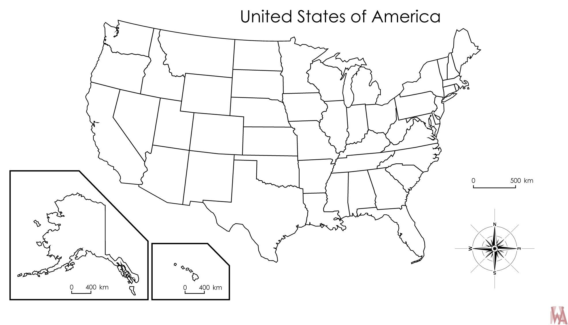 Blank United States Map Postedryan Tremblay With United