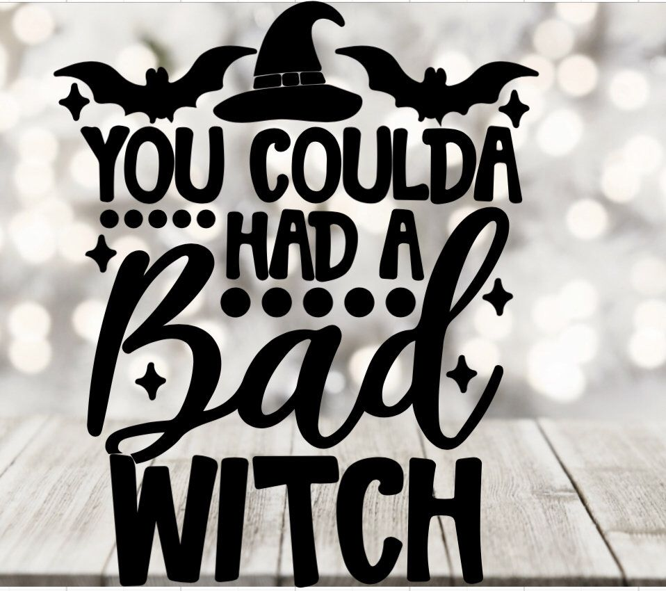 You could've had a bad witch, fall svg , pumpkin svg, svg cut files for cricut, hello fall svg cut file, instant download svg hello pumpkin #hellofall