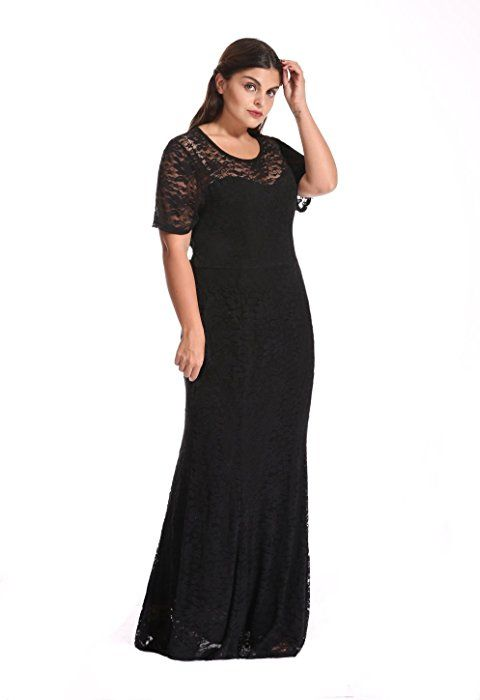 65077e427831f Myfeel Women Plus Size Lace Ruched Empire Waist Sweetheart Mermaid Fishtail  Cocktail Evening Dress (1X