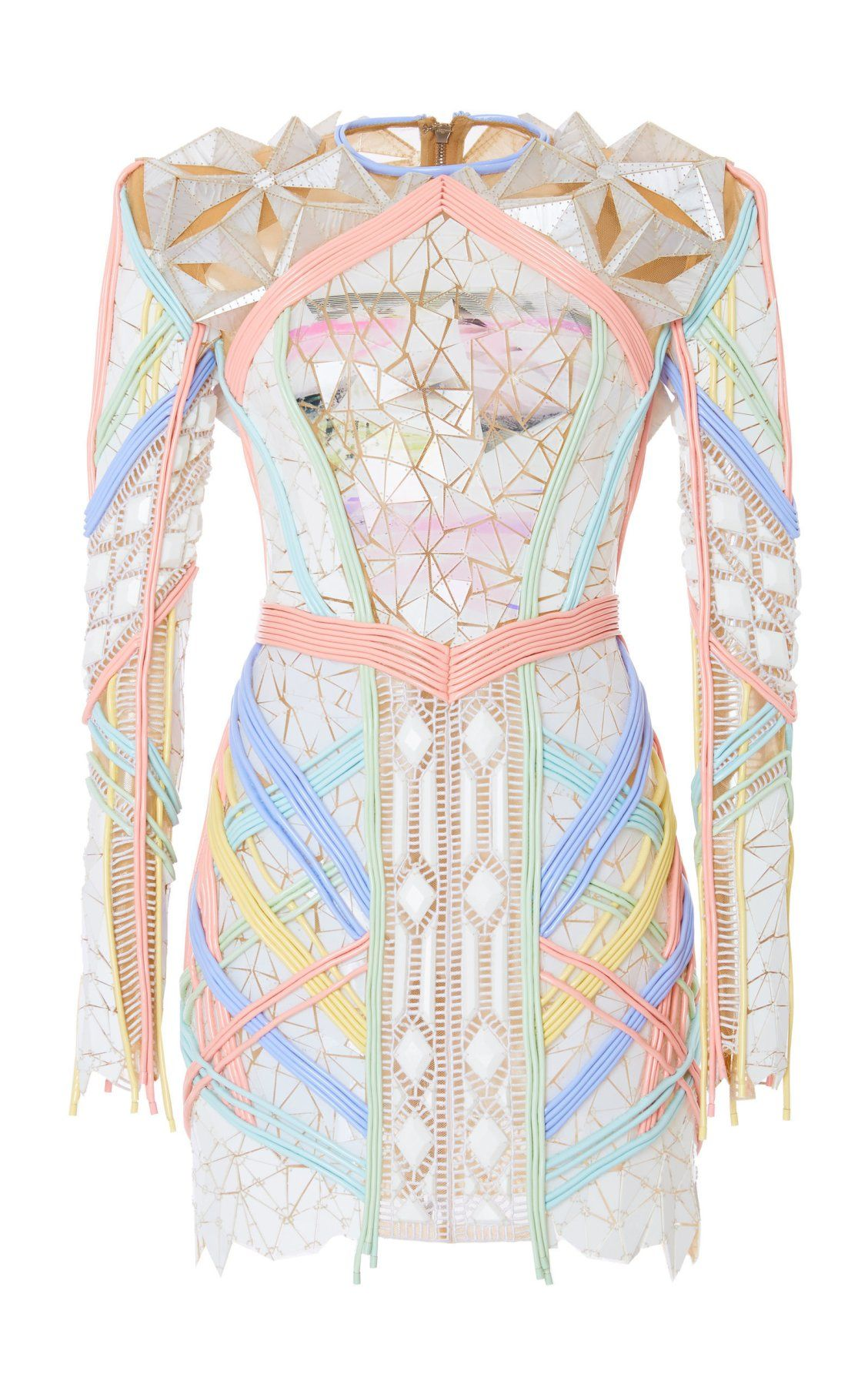 cheapest get new classic Crystal Embroidered Crepe Dress by Balmain SS19   Moda ...