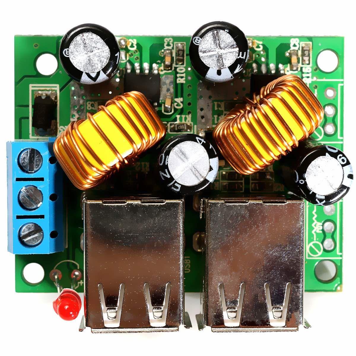 USB Step-down Power Supply Module DC 12V 24V 40V to 5V 5A