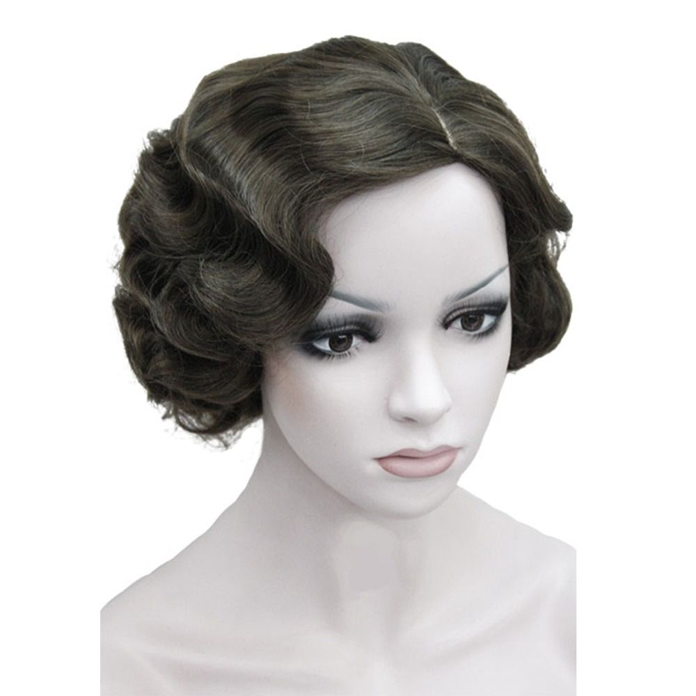Strongbeauty flapper hairstyles for women finger wave wigs retro
