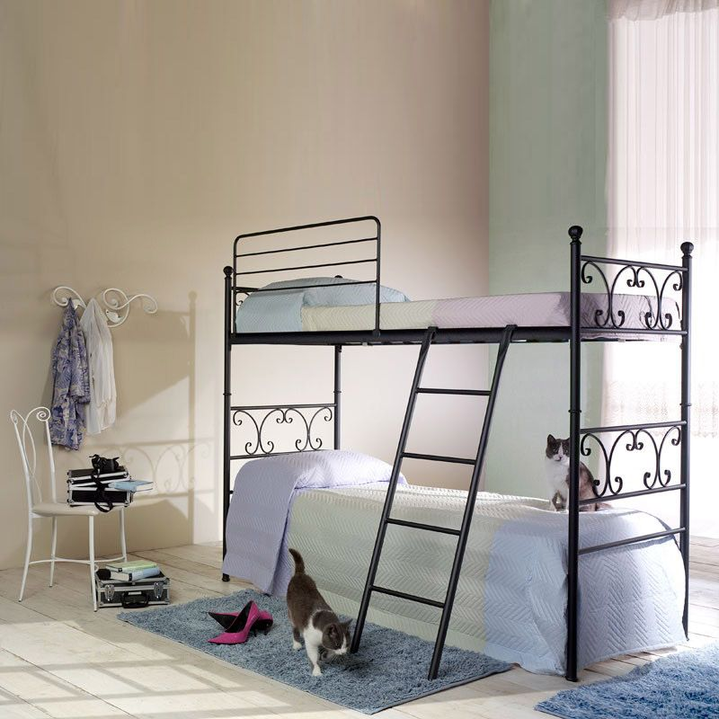 Vienna Wrought Iron Bunk Bed With Ladder By Cosatto Letti Bunk Bed Designs Bunk Beds For Girls Room Girls Bunk Beds