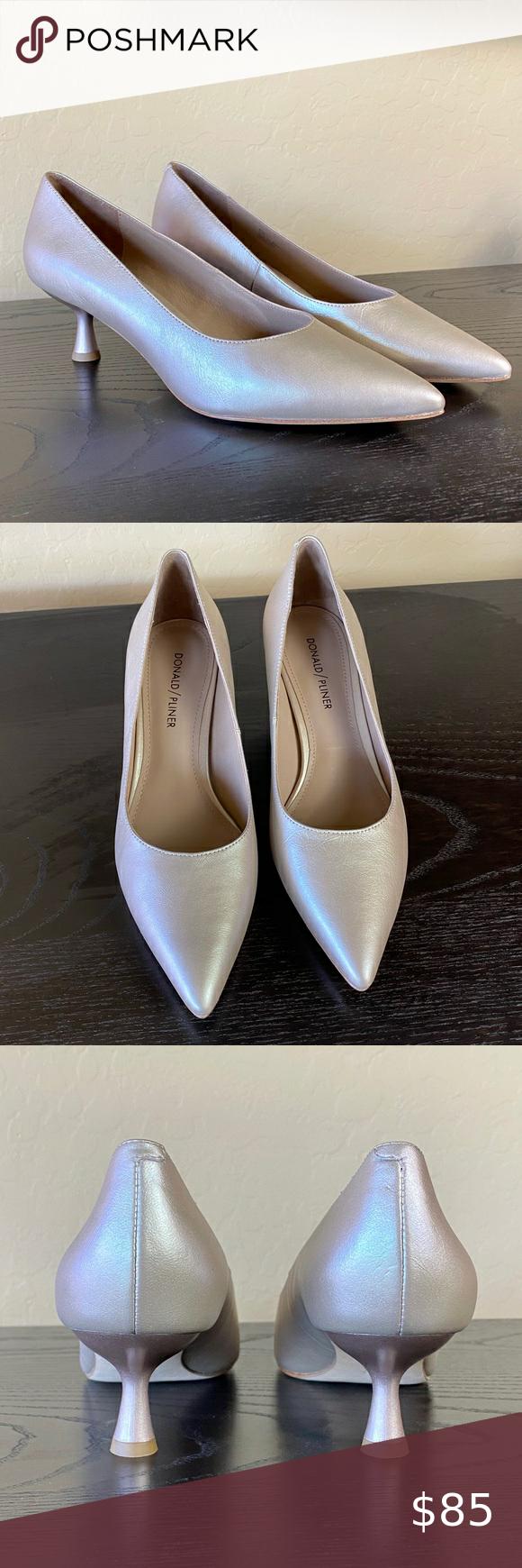 New Donald Pliner Bon Kitten Heel Pump In Blush In 2020 Pumps Heels Kitten Heel Pumps Shoes Women Heels
