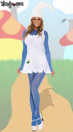 Yes ladies smurfs are sexy! Check out this sexy Smurf costume... Halloween   smurfs  costume  costumeideas 65607d0fea1e