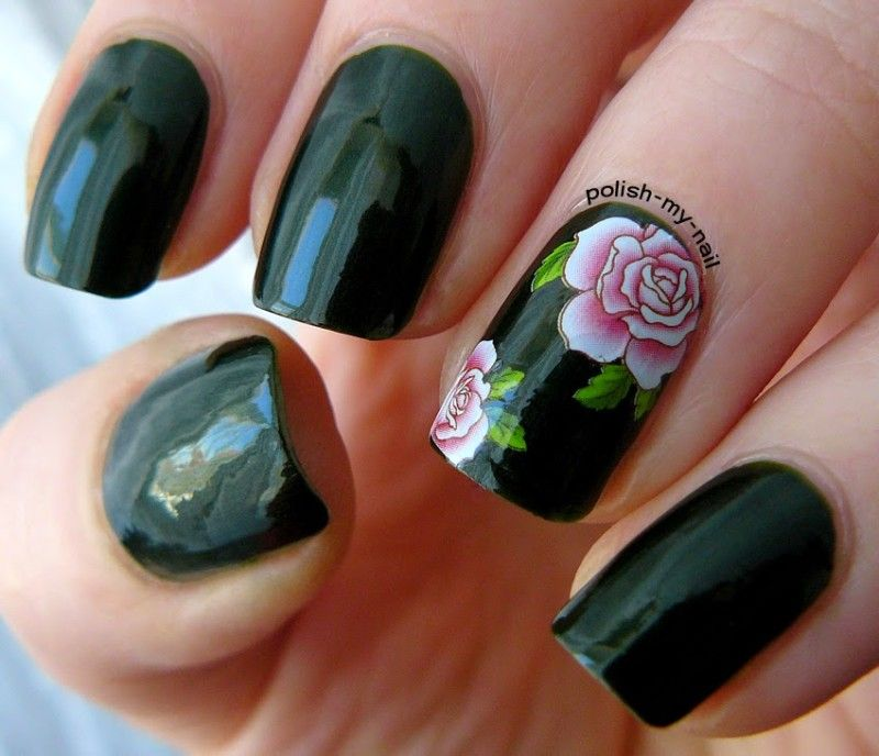Adorable | 101 Ways to Use Nail Decals | Pinterest | Simple nail ...