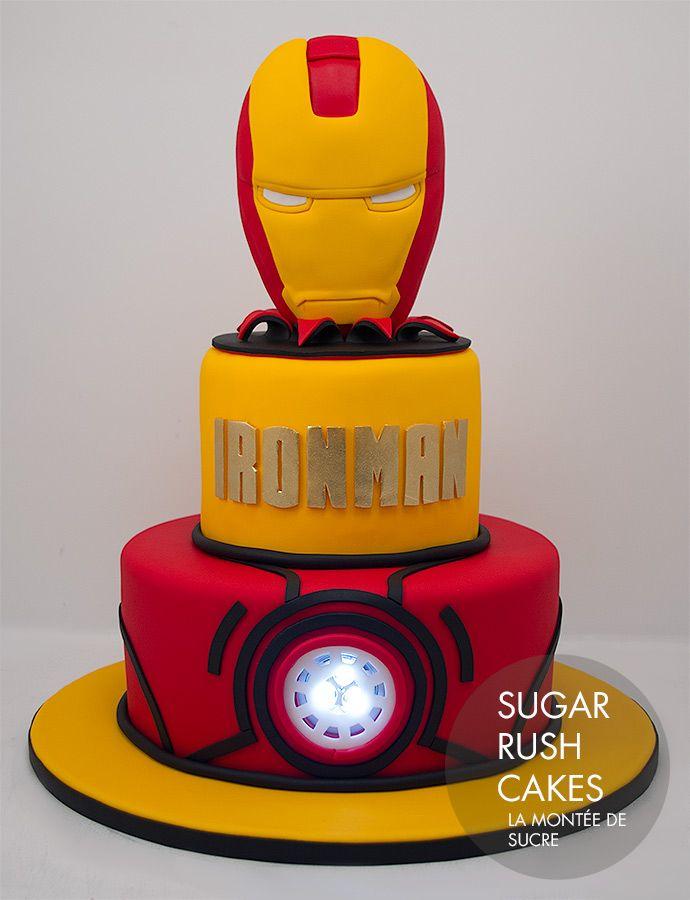 Ironman cake Latest creations Pinterest Iron man cakes