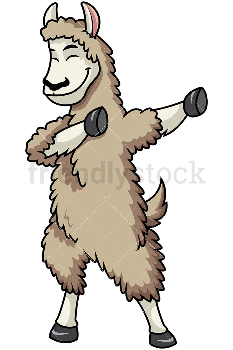 Dabbing Llama Cartoon Illustration Cartoon Clip Art Cartoons