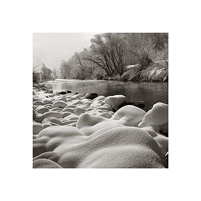 ''River in Winter'' by John Wang Landscapes Art Print