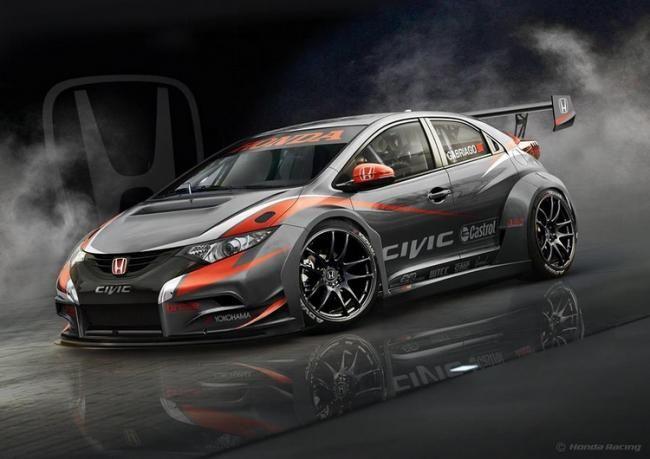 Ini Dia Wujud Honda Civic Untuk Balap Wtcc 2014 Vivaoto Com Majalah Otomotif Online Honda Civic Honda Modifikasi Mobil