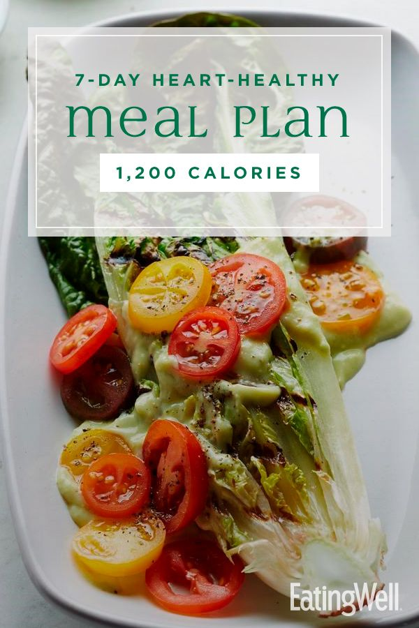 Photo of 7-Day Heart-Healthy Meal Plan: 1,200 Calories