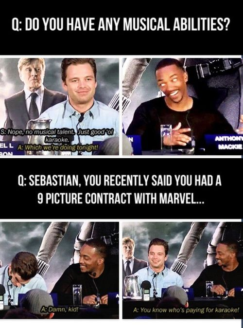 Anthony Mackie and Sebastian Stan are hilarious in their interviews!