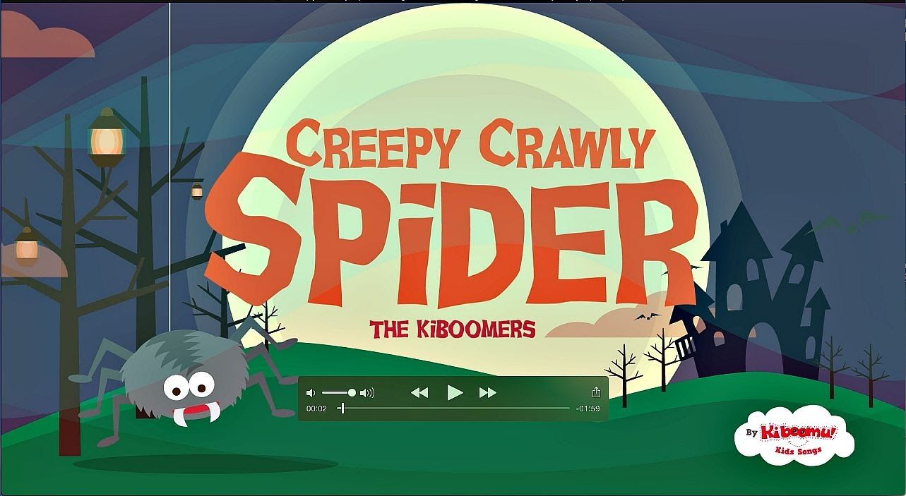 HALLOWEEN FUN! It's Creepy Crawly Spider Song for kids! Super cute ...