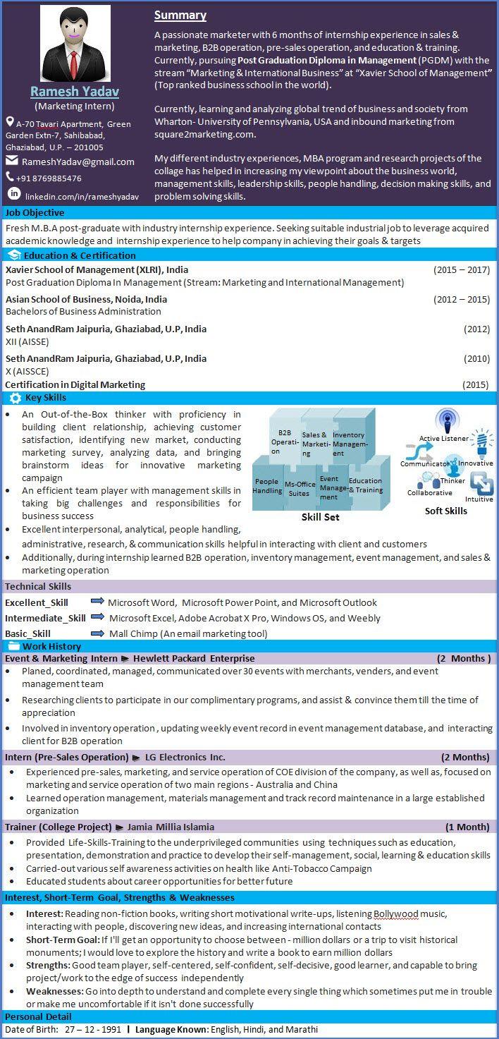 Marketing Intern Resume Sample  ResumeLinkedin  Marketing