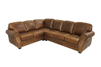 Mason Sectional Sofa - Roughing It In Style #Rustic #Leather ...