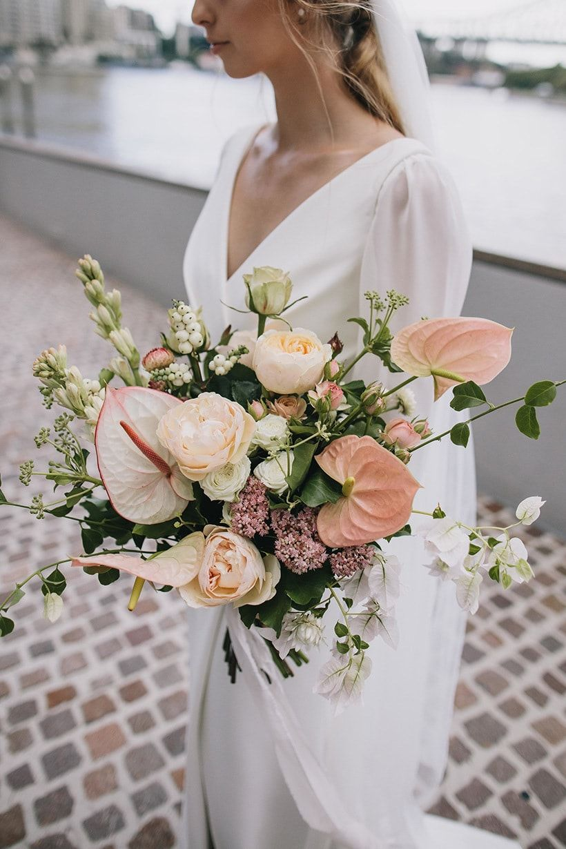 Florist We Love New England Flower Co White Wedding Bouquets