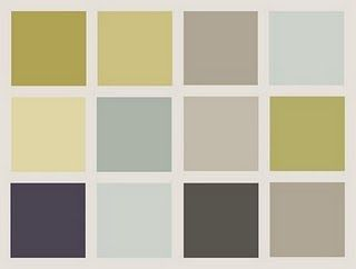 Lovely, soothing colors with gray, gold, blue, and indigo