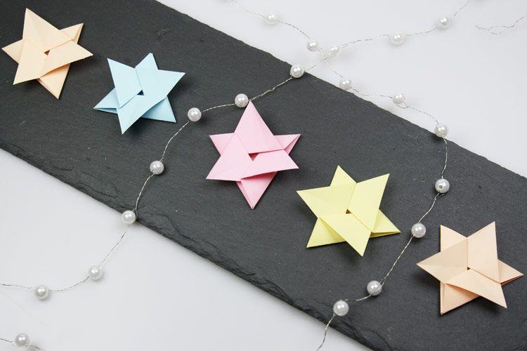 origami stern falten origami f r weihnachten origami. Black Bedroom Furniture Sets. Home Design Ideas