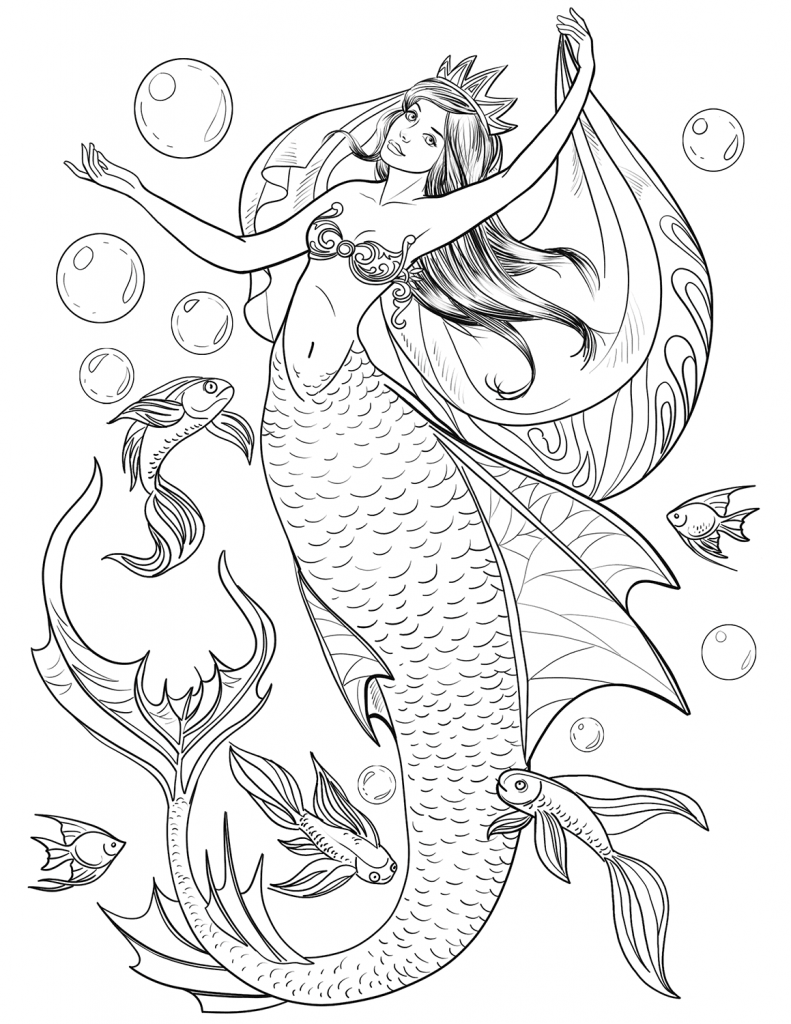 Baby Mermaid Coloring Page Youngandtae Com Mermaid Coloring Pages Mermaid Coloring Book Dinosaur Coloring Pages