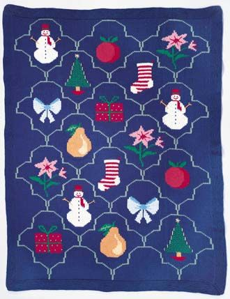 Free Christmas Afghan Pattern With Charts Knitted Blankets
