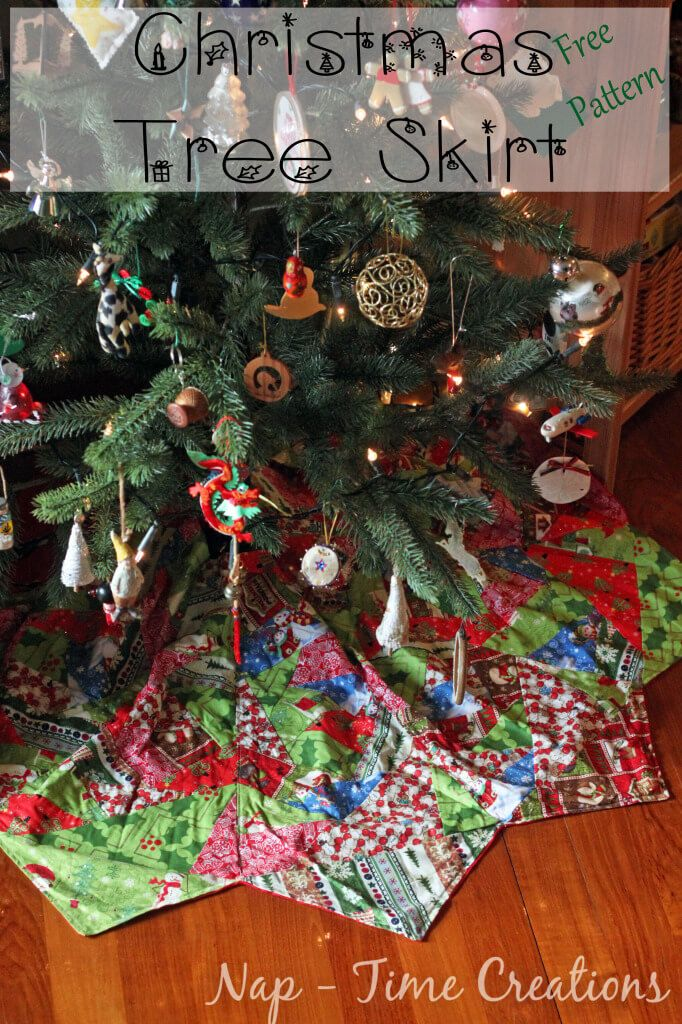 Paper Piecing Christmas Tree Skirt pattern and tutorial from Life ...
