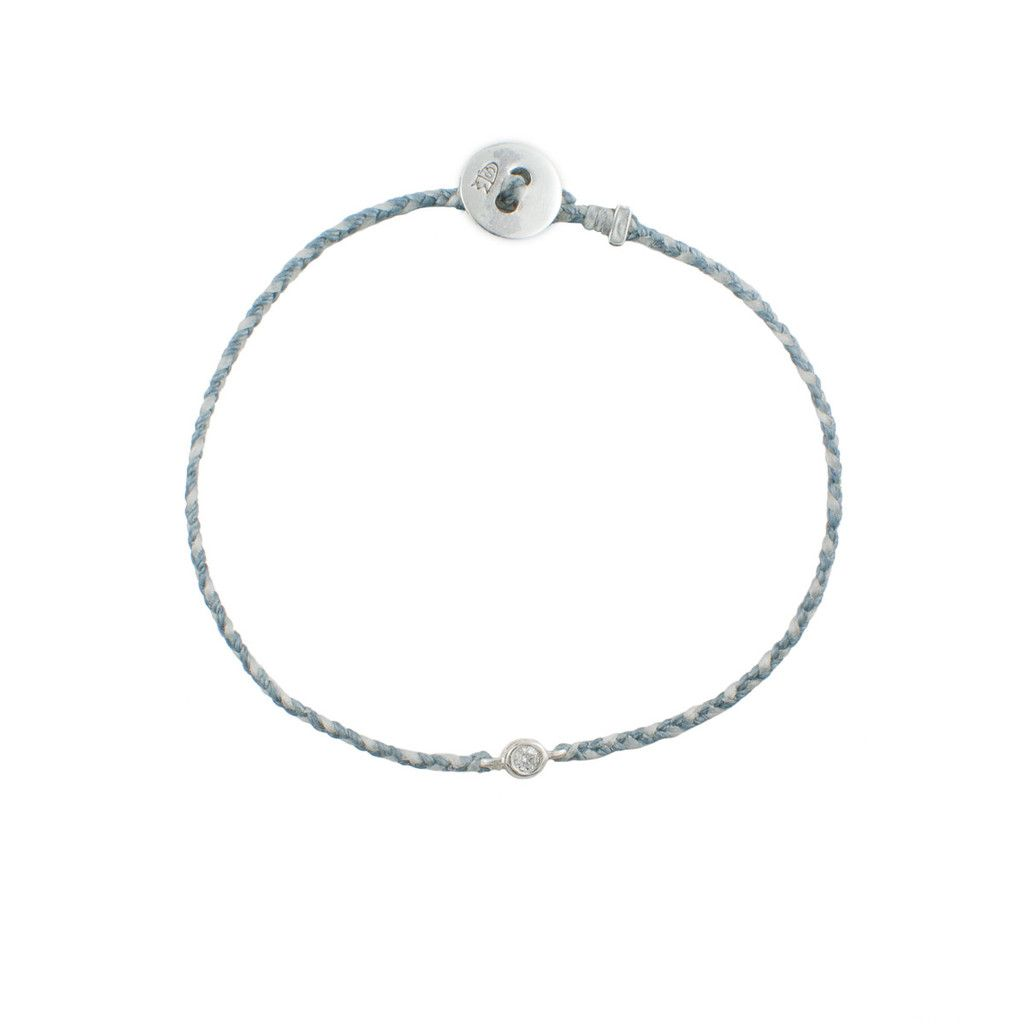 Diamond Nylon Braided Aqua and White Bracelet in Silver – Bluboho | Shop | bluboho jewelry