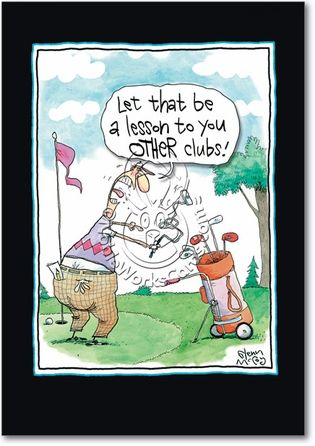 Other Clubs Card #golfhumor
