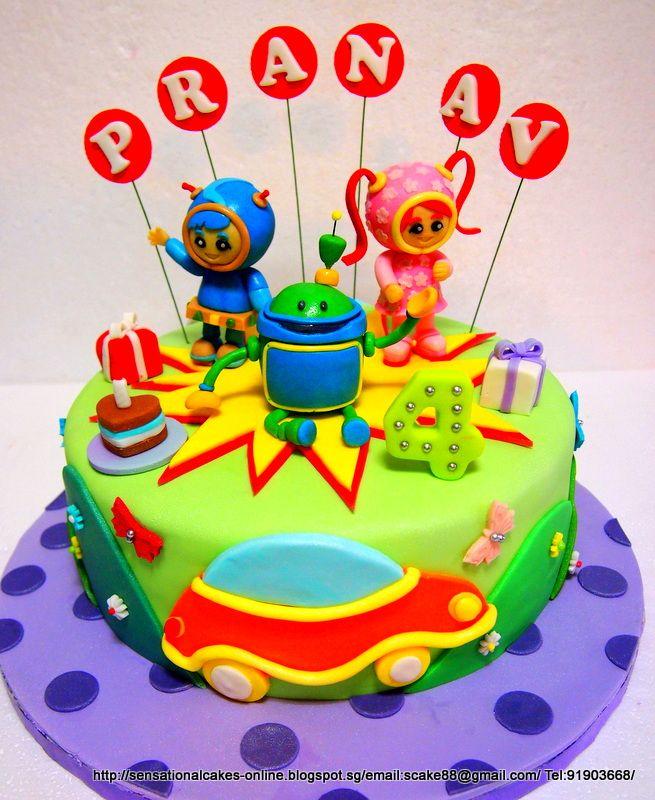 Cakes Online Singapore TEAM UMIZOOMI CAKE SINGAPORE 3D Cakepins 4th Birthday Parties 3rd