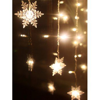 Christmas Party Home Decor Snowflake Pendant LED String Light