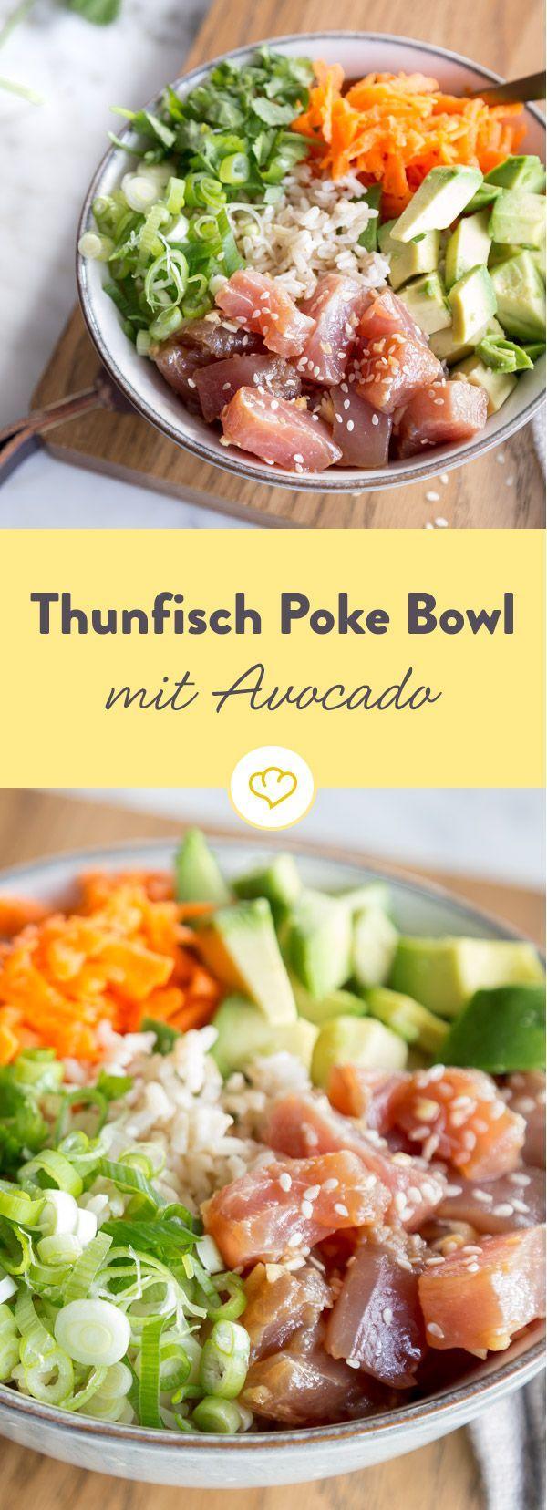 Poke Bowl mit Thunfisch und Avocado   - In 80 Töpfen um die Welt -