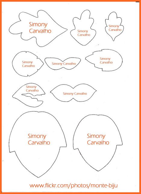 Folhas | Template, Leaves and Molde