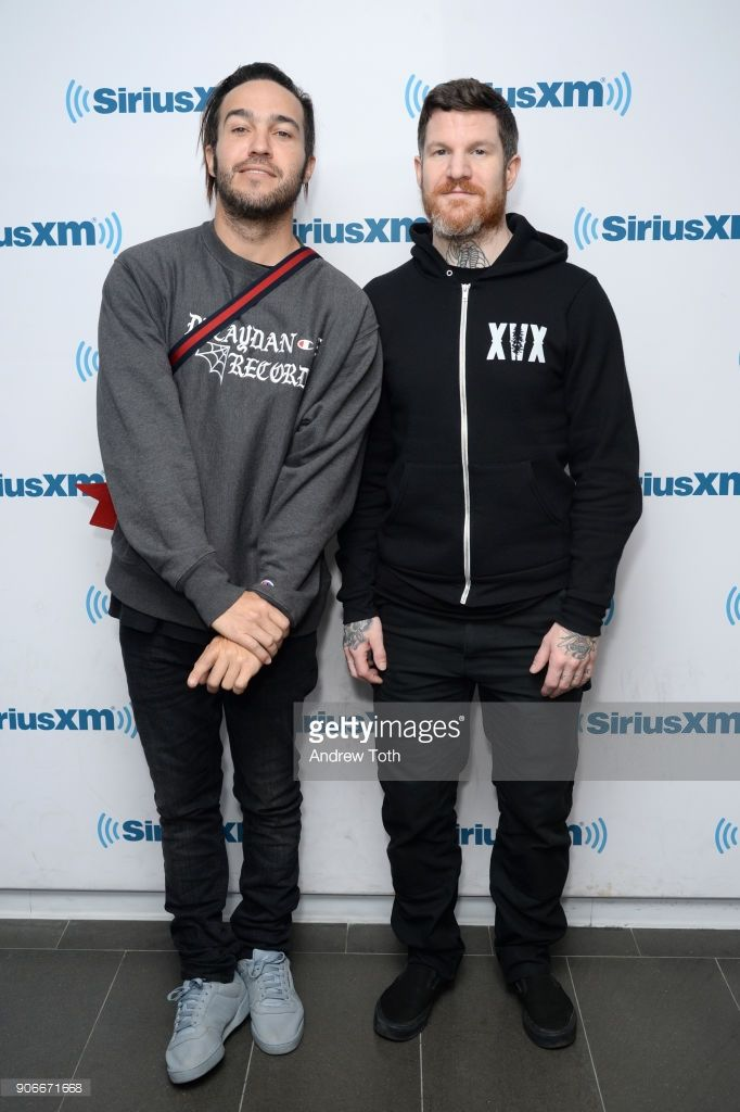Pete Wentz And Andy Hurley Of Fall Out Boy Visit Siriusxm Studios On