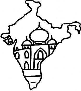 Map Of India Coloring Page Super Coloring India Map India Flag India Crafts