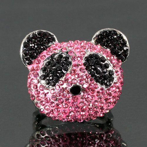 Pink Panda Ring Shop At Www Houseoftimmy Com Panda Ring Pink Panda Ring Shopping