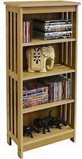 Light Finish Wooden Multimedia CD DVD Storage Unit Cabinet Shelves Media Rack