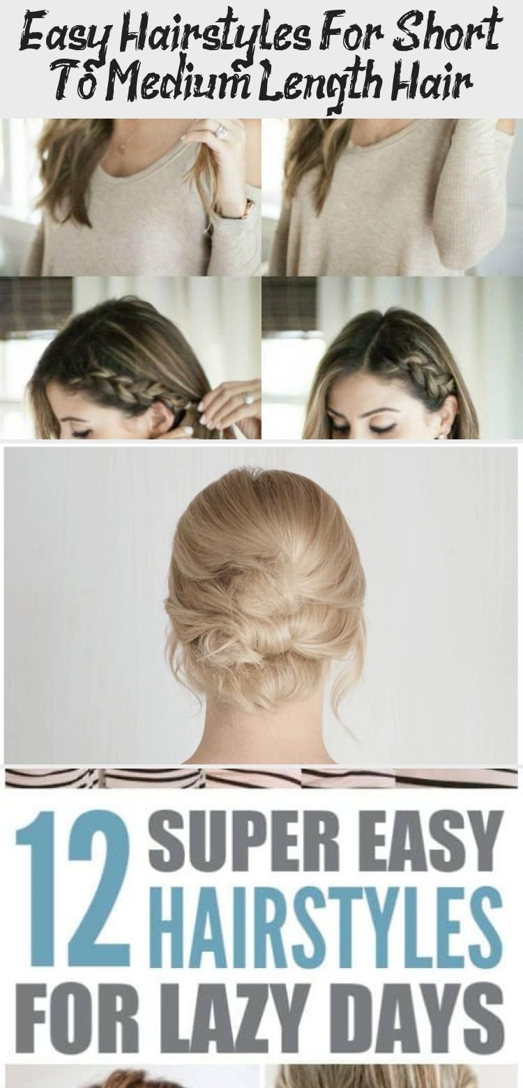 Easy Hairstyles For Short To Medium Length Hair Hairstyles Medium Length Hair Styles Easy Hairstyles Hair Lengths