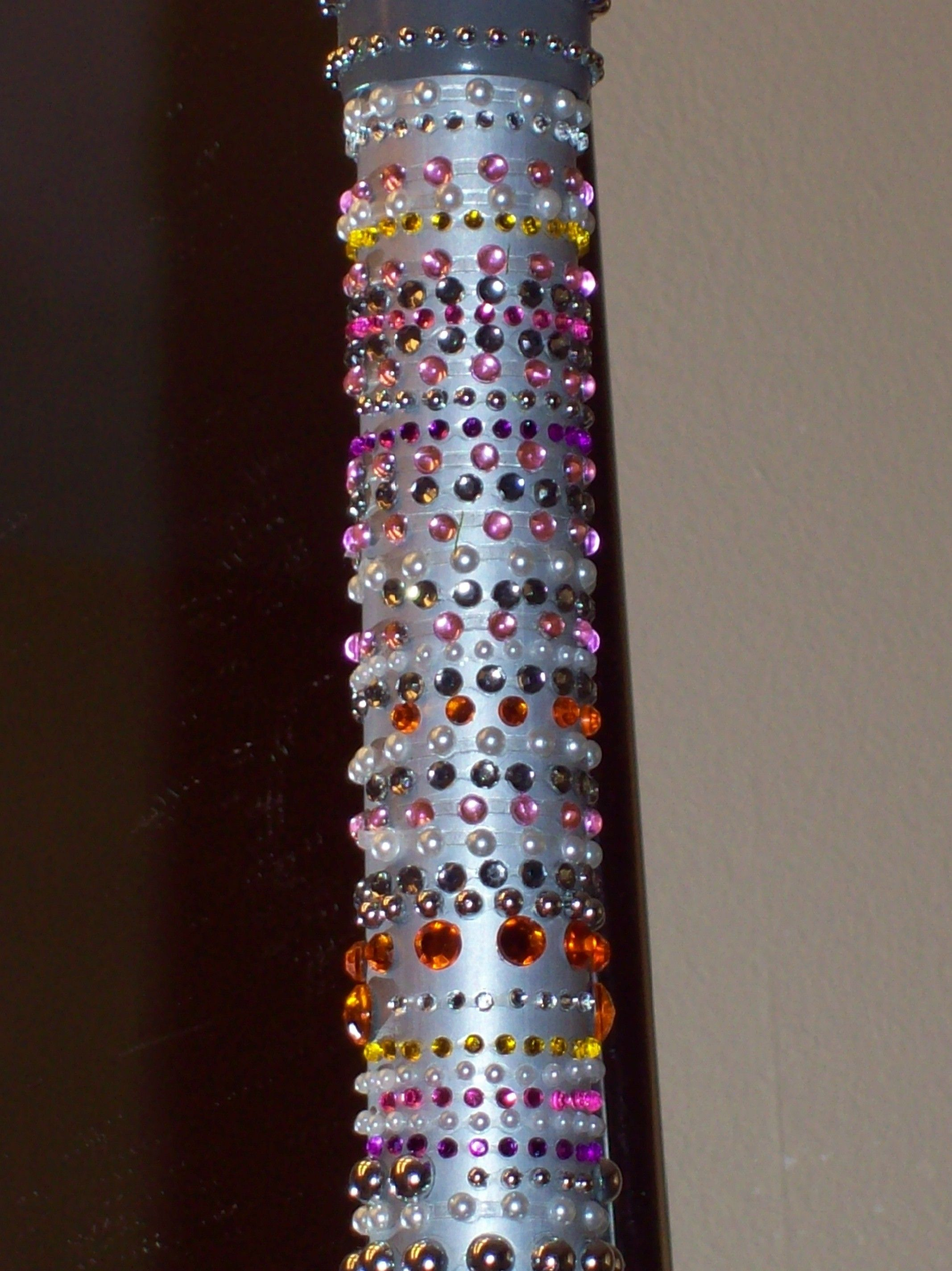 bedazzled my walking cane!   camille\'s creations   Pinterest ...