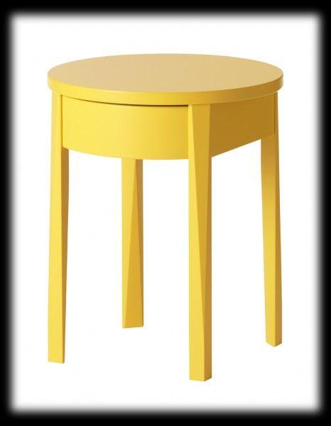 50 folies jaunes moins de 150 table de chevet. Black Bedroom Furniture Sets. Home Design Ideas